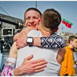 Męskie emocje na mecie to najpiękniejsze chwile! / fot. Sportografia.pl